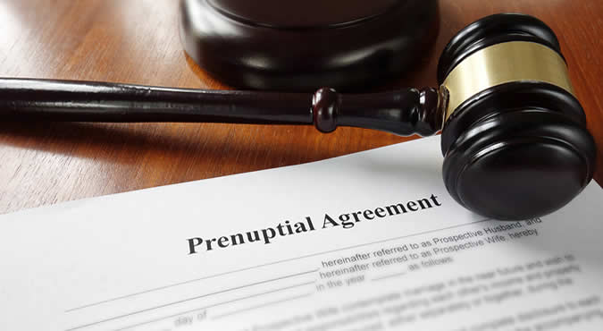 picture of a prenuptial agreement