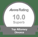 avvo rating 10.0 Superb | Top Attorney Divorce