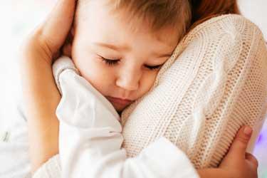 parent hugging child