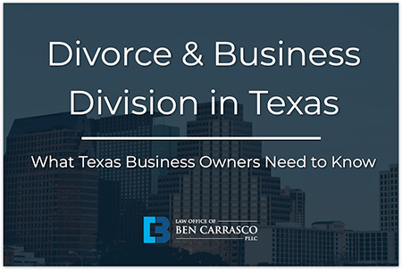 divorce with a business owner involved texas